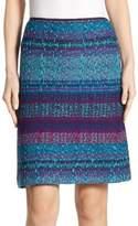 St. John Wool A-Line Skirt