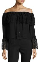 Rachel Zoe Aidan Lace-Trim Off-the-Shoulder Top