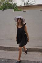 Urban Renewal Vintage Remnants Linen Tie-Shoulder Babydoll Dress