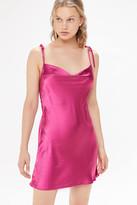 Motel Camara Satin Tie-Shoulder Slip Dress
