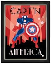 Marvel Captain America Under Glass Wall Art 14x18