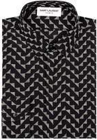 Saint Laurent Silk Printed Shirt