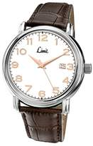 Limit Men's Quartz Watch with White Dial Analogue Display and Brown Polyurethane Strap 5654.01