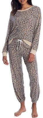 Honeydew Intimates Star Seeker Leopard Knit Pajama Set