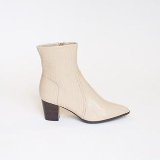Collection & Co - Kali Boot Cream Croc - 35 / Cream