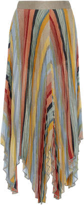 Missoni Long High-Rise Pleated Asymmetric Skirt