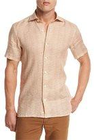 Ermenegildo Zegna Geo-Print Short-Sleeve Sport Shirt, Orange