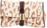 Bottega Veneta Leopard Print Ponyhair Clutch