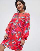 House of Holland Dress In Floral Fish Print