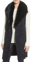 Steve Madden Women's Faux Fur Collar Vest