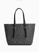 Calvin Klein Monogram Bag-In-Bag Medium Tote
