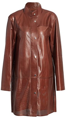 Lafayette 148 New York Svannah Perforated Leather Jacket