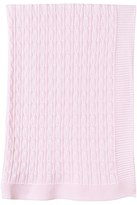 Emile et Rose Pale Pink Cable Knit Blanket