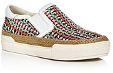 Ash Cali Woven Slip-On Platform Sneakers