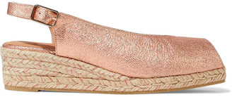 Castaner Dosalia Metallic Linen Espadrille Wedge Sandals