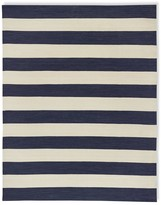 Williams-Sonoma Patio Stripe Indoor/Outdoor Rug, Dress Blue