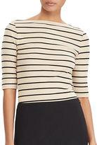 Lauren Ralph Lauren Petite Stripe Bateau T-Shirt