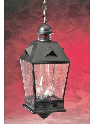 clear Millwood Pines Winooski 1-Light Outdoor Hanging Lantern Millwood Pines Finish: Dark Antique Brass, Glass