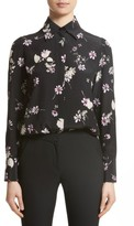 Valentino Garavani Women's Valentino Flowers Fall Silk Shirt