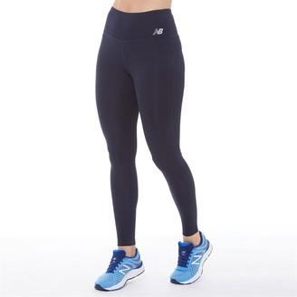 New Balance Womens Deep Waisted 7/8 Running Leggings Eclipse
