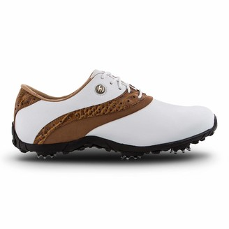 Foot Joy FootJoy Women's LoPro Collection Golf Shoes White 9.5 M Tan US