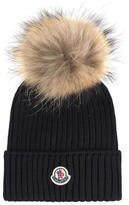 Moncler Wool hat and fur bobble