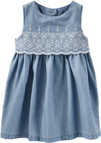 Osh Kosh Oshkosh Sleeveless Cap Sleeve Babydoll Dress - Baby Girls