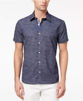 Ryan Seacrest Distinction Ryan Seacrest DistinctionTM Men's Slim-Fit Navy/White Broken-Stripe Sport Shirt, Created for Macy's