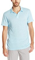 Vince Men's Linen Short Sleeve Polo Shirt