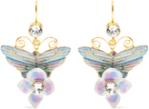 Dolce & Gabbana Hydrangea and butterfly-embellished drop earrings