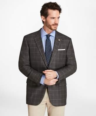 Brooks Brothers Madison Fit Saxxon Wool Windowpane Sport Coat