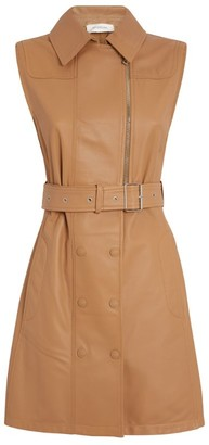 Sportmax Leather Dionne Belted Dress