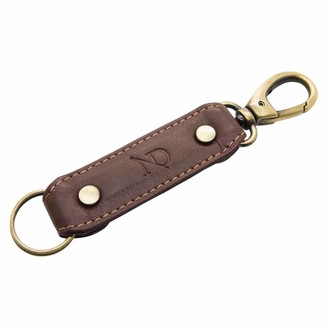 N'damus London Brown Leather Loop Keyring