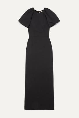 Rebecca Vallance Winslow Open-back Cloque Gown - Black