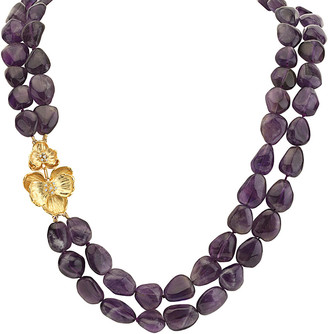Michael Aram Orchid 18K Amethyst Necklace