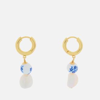 Anni Lu Women's Heloise Pearl Earrings - Brilliant Blue