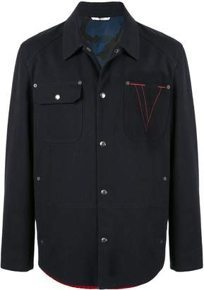 Valentino embroidered V knitted back jacket