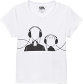 Karl Lagerfeld White and Choupette Print Tee (MINI ME)