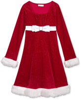 Bonnie Jean Faux-Fur Trim Holiday Dress, Toddler & Little Girls (2T-6X)