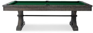 Plank & Hide Otis Slate Pool Table With Professional Installation Included Felt Color: Green, Dining Top: Without Dining Top