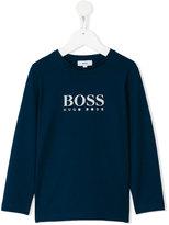 Boss Kids - logo print sweatshirt - kids - Cotton - 4 yrs