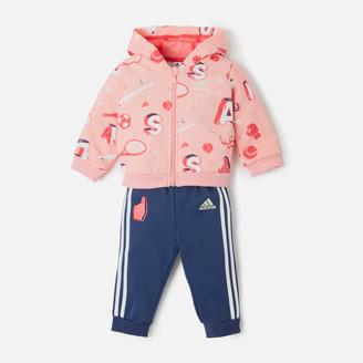 adidas Girls' Infant Full Zip Hoody and Jogger Set