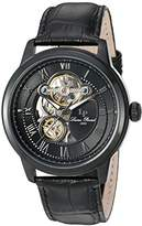 Lucien Piccard Men's 'Optima' Stainless Steel and Leather Automatic Watch