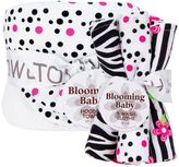 Trend Lab Zahara Hooded Towel & Washcloth Bouquet Set