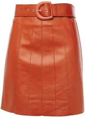 Sandro Aubin Belted Leather Mini Skirt