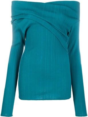 Nina Ricci Off-Shoulder Ribbed Top