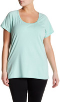 Z By Zella Scoop Neck Seamed Tee (Plus Size)