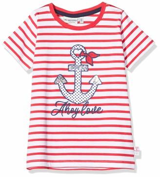 Salt&Pepper Salt & Pepper Girl's Streifen Mit Anker Applikation Und Pailletten T-Shirt