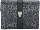Dolce & Gabbana leopard print clutch - men - Leather - One Size