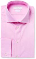 Richard James Pink Cutaway-Collar Cotton-Poplin Shirt